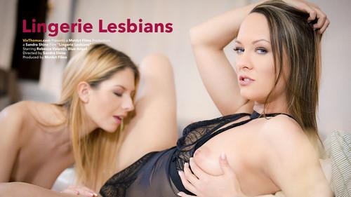 VivThomas Blue Angel & Rebecca Volpetti Lingerie Lesbians