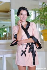 Sapphira - Silk Pink Kimono Robe26x20ciev1.jpg