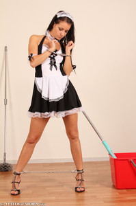 Melisa A Melisa - Maid Melissa Cleaning in Cuffs