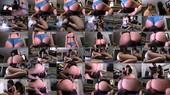 Two Girls Sit Full Weight On A Loser While Watching TV - Mariah, Natalya