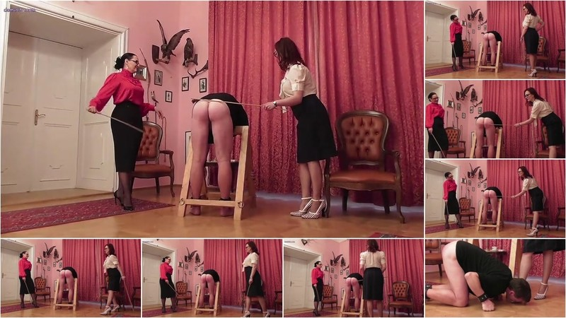 Mistress Luna - Cold Caning From Two Ladies [HD 720P]