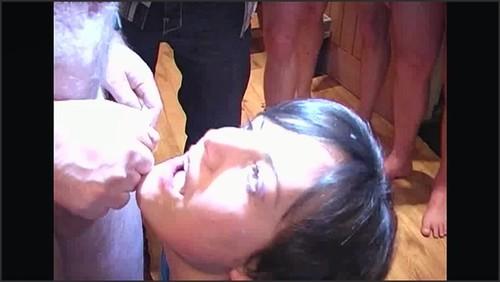 Amateur British Bukkake Session #61 (Amateur, Small tits)) - britbuk  - iwantclips
