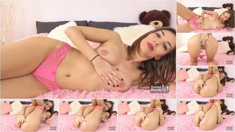 Sweet Bunny - Masturbating On Pink Fluffy Blanket - Sexy Loud Moans And Intense Orgasm [FullHD 1080P]