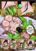 Chi-Chi x Piccolo (Dragon Ball Z adult comic) by Loonyjams