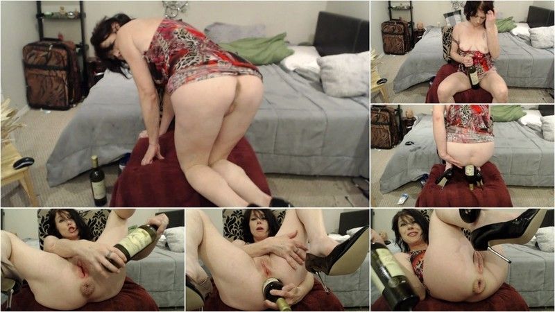 Dirtygardengirl - Ass Fuck With Wine Bottle [FullHD 1080P]