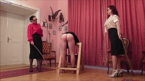 Madam Eris And Mistress Luna Cold Caning From Two Ladies 2019