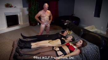 Family robo sex with two men and three hypno women